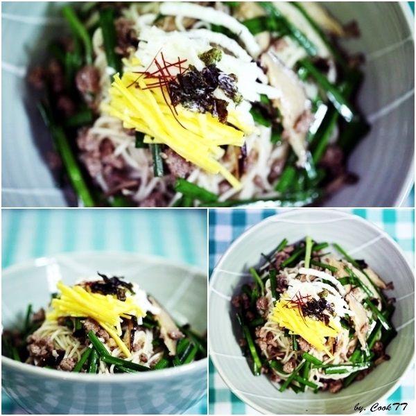 Soy sauce mixed noodles (Bibim guksu,Goldongmyeon) 비빔국수 http://www.youtube.com/cookTalkTalk