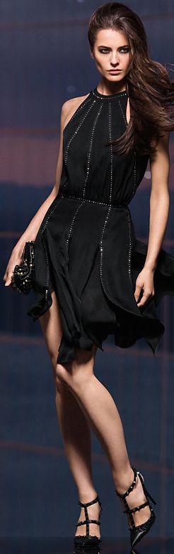 L'Agence Shirred Embellished Dress