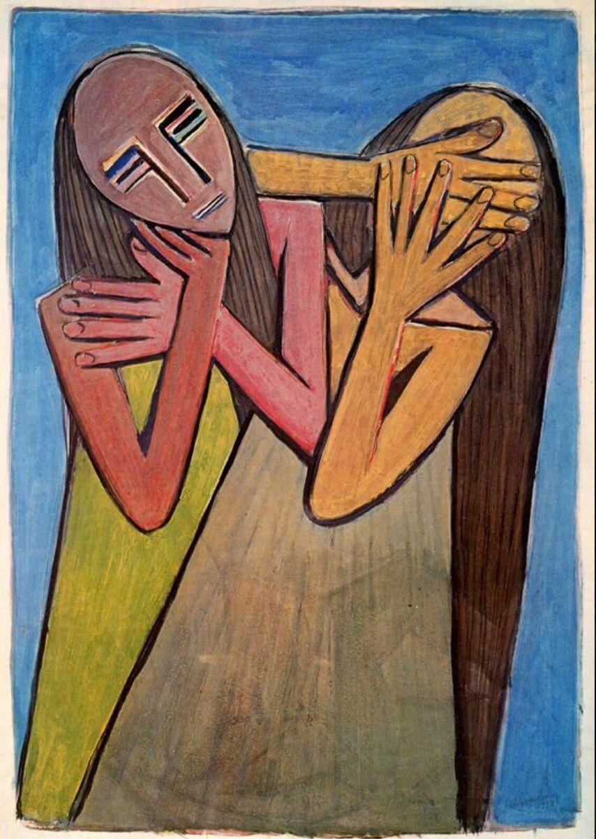 1938 Dolor de España, Afro-Chinese Cuban artist Wifredo ...