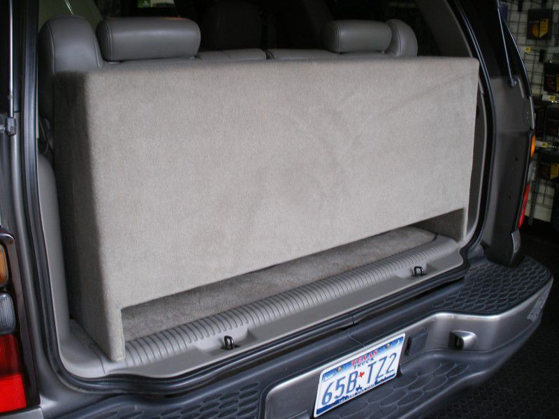 2000 2006 Chevy Tahoe Sub Box Downfire Ported Subwoofer