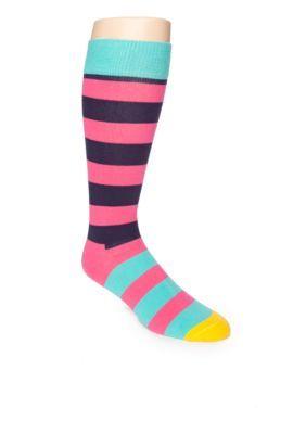 Happy Socks  Happy Stripes Crew Socks - Single Pair