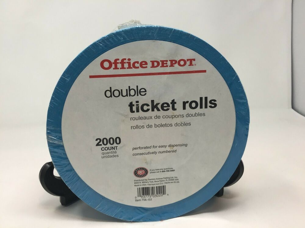 office depot double coupon ticket rolls raffle tickets