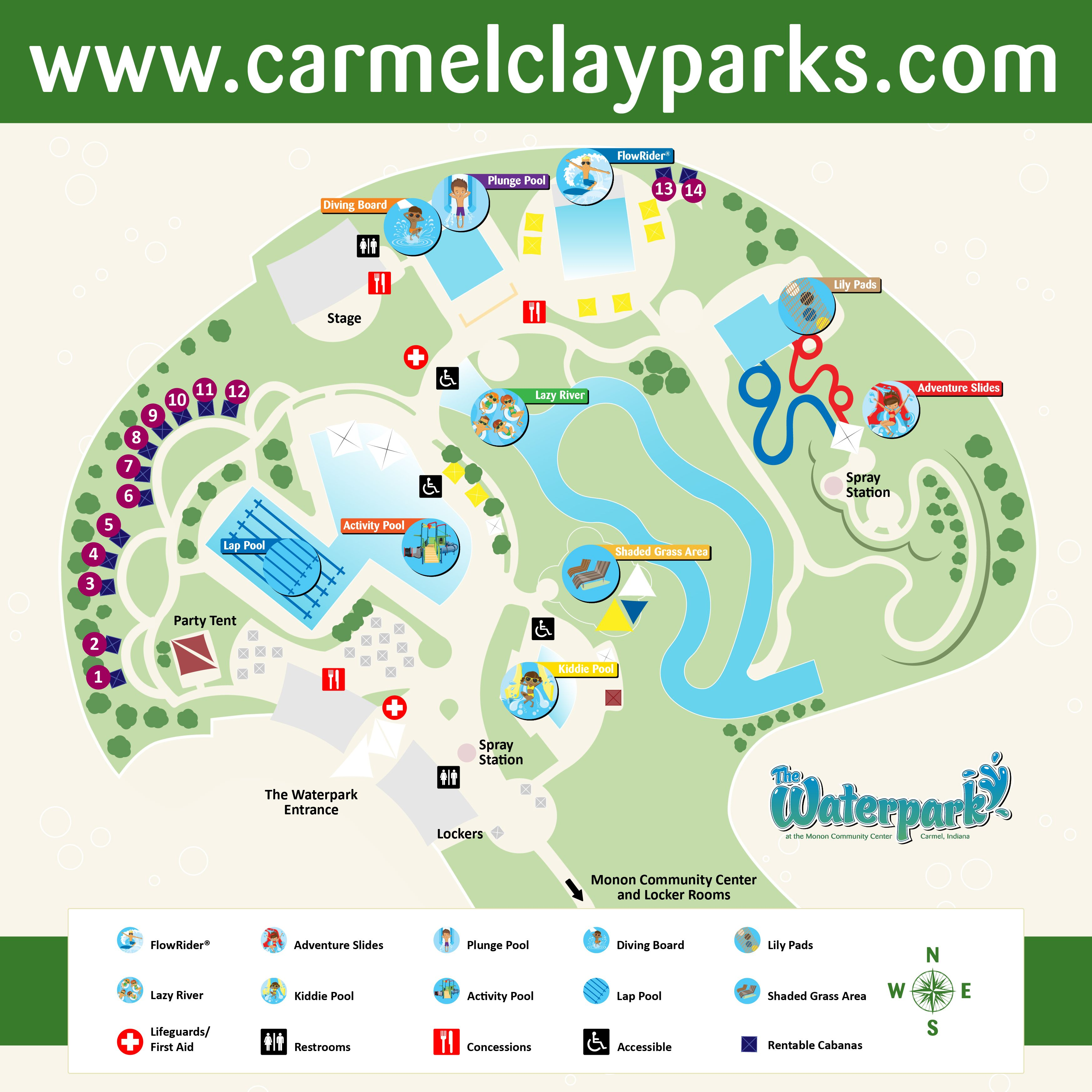 Waterpark Map 2013 Cabana Numbers 01 Staycation Pinterest