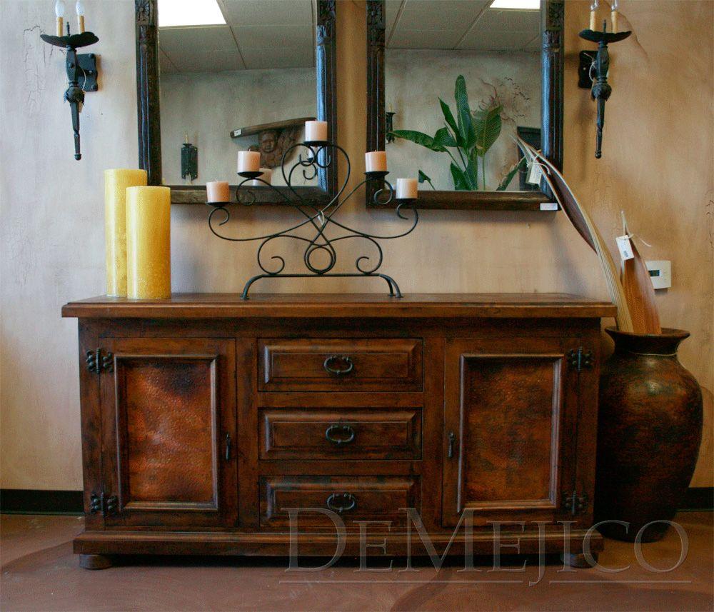 Arizona Hacienda Kitchen Cabinets: The Buffet Mesquite Con Cobre Is A Spanish Sideboard Made