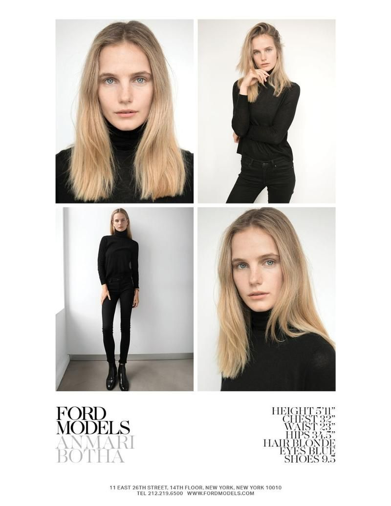 Ford Models New York 2017 Polaroids Portraits Polaroids Digitals