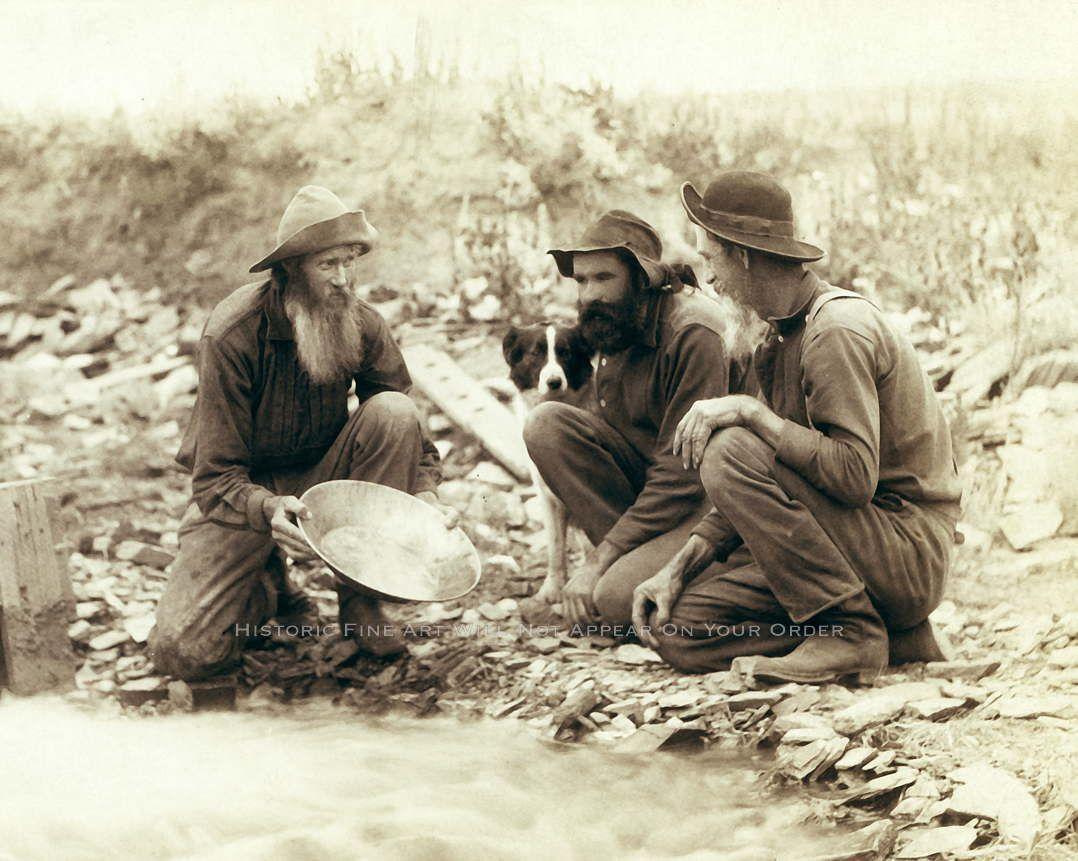 Gold panning photo vintage klondike gold rush alaska gold