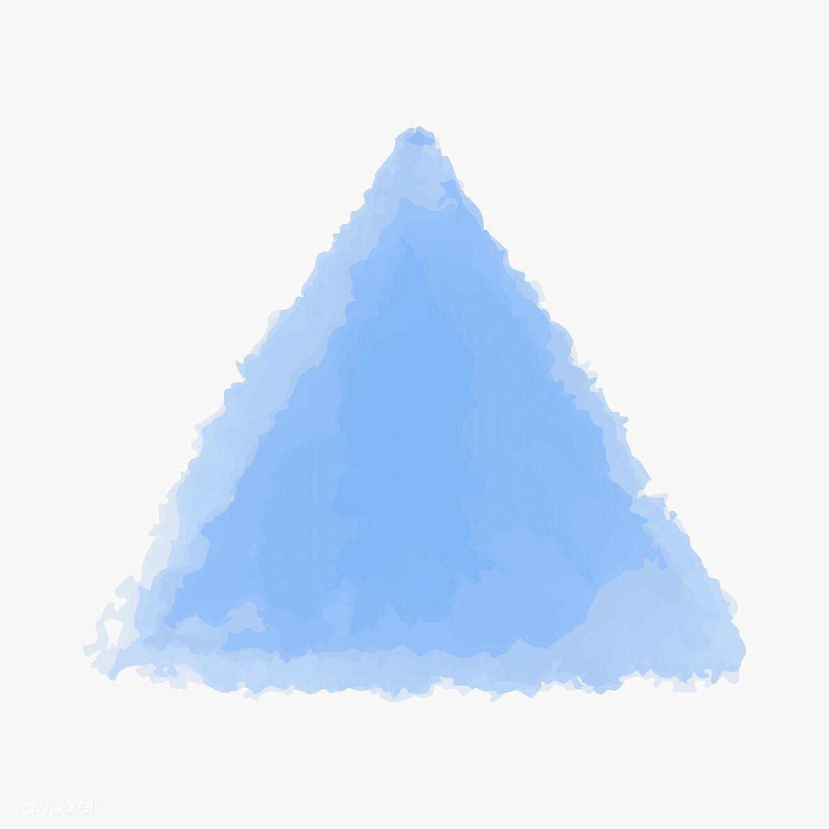 Blue Watercolor Geometric Shape Transparent Png Free Image By Rawpixel Com Ningzk V Geometric Shapes Blue Watercolor Geometric