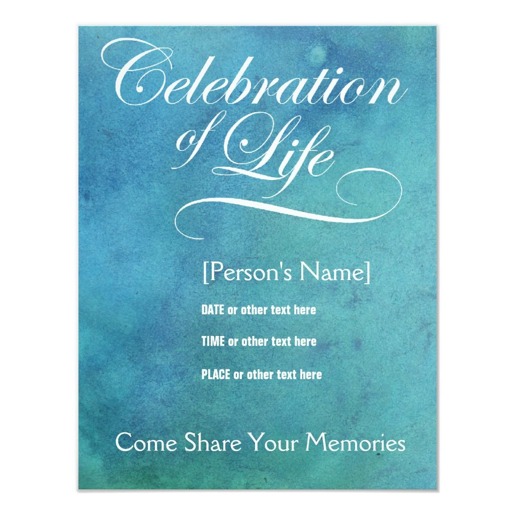 Elegant Celebration Of Life Memorial Invitation Zazzle Com In 2021 Celebration Of Life Reception Invitations Invitation Template