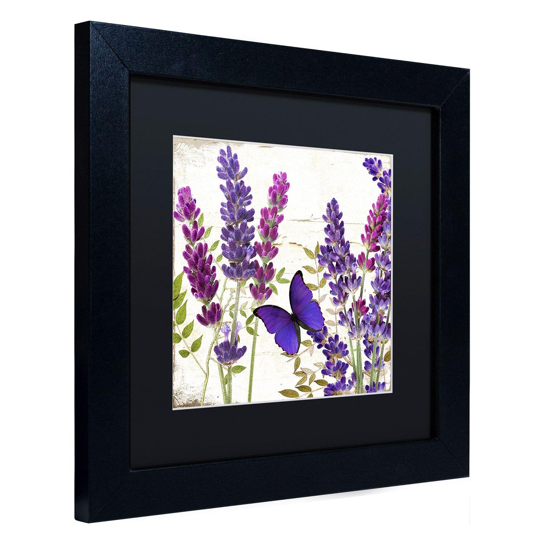 Trademark Fine Art Lavender I Black Framed Wall Art Framed Art Black Framed Wall Art Trademark Fine Art