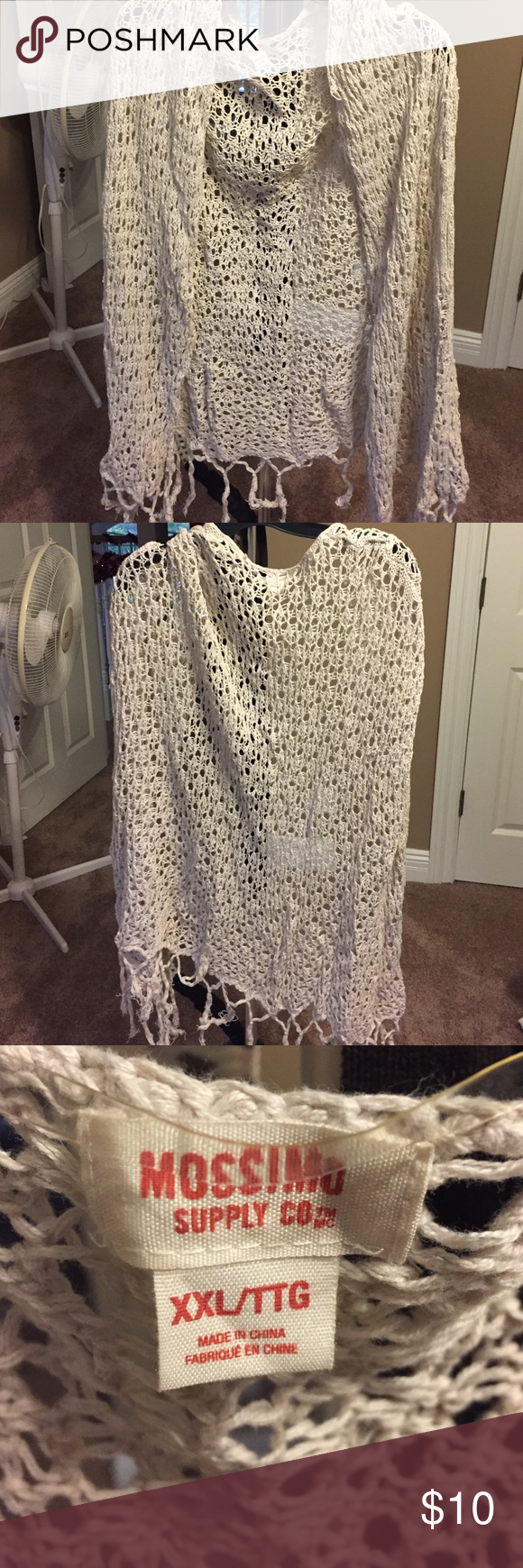 Mossimo crochet vest! Cream! Size XXL! Mossimo crochet vest! Cream! Size XXL! Mossimo Supply Co Sweaters