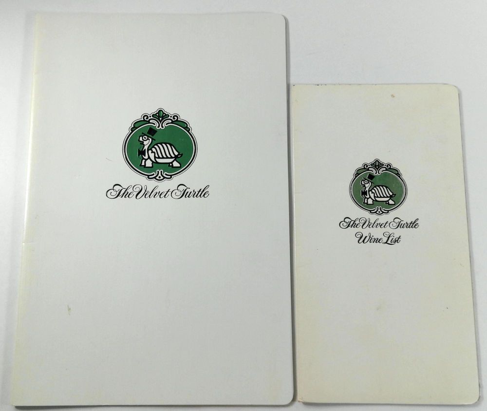 1980s Velvet Turtle Restaurants California Original Menu Lot Of 3