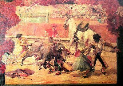 """Domingo Fallola, Roberto (París, 1883-Madrid, 1956). """"El coleo"""" . Colección privada"""