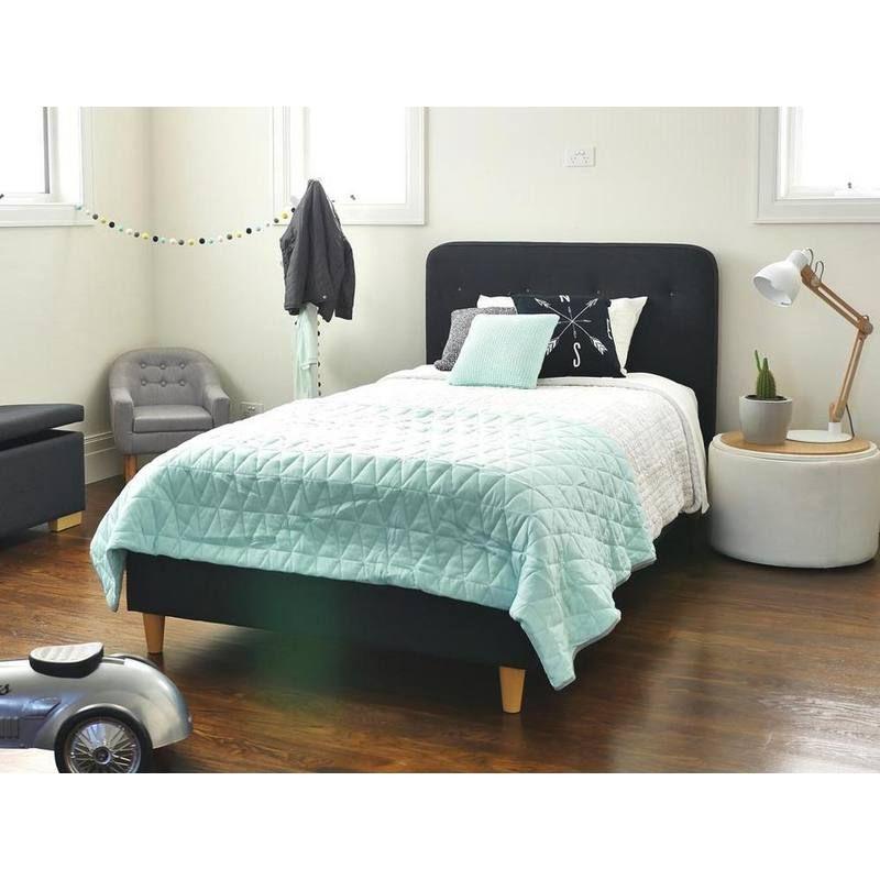 Best Harlow Single Upholstered Bed Upholstered Beds King 640 x 480