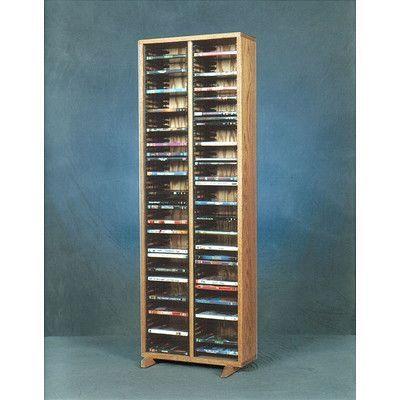 Wood Shed 200 Series 128 DVD Multimedia Storage Rack Finish: Unfinished