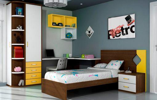 Dise os de dormitorios para adolescentes con mucho color for Diseno piezas infantiles
