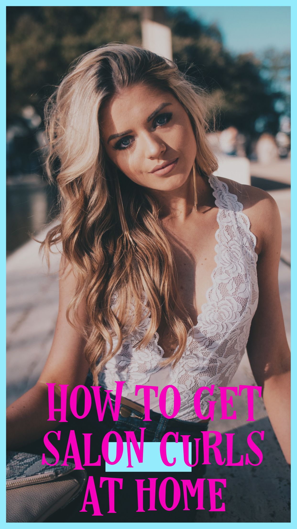 How To Get Salon Curls At Home Curled Hairstyles How To Curl Your Hair Loose Hairstyles