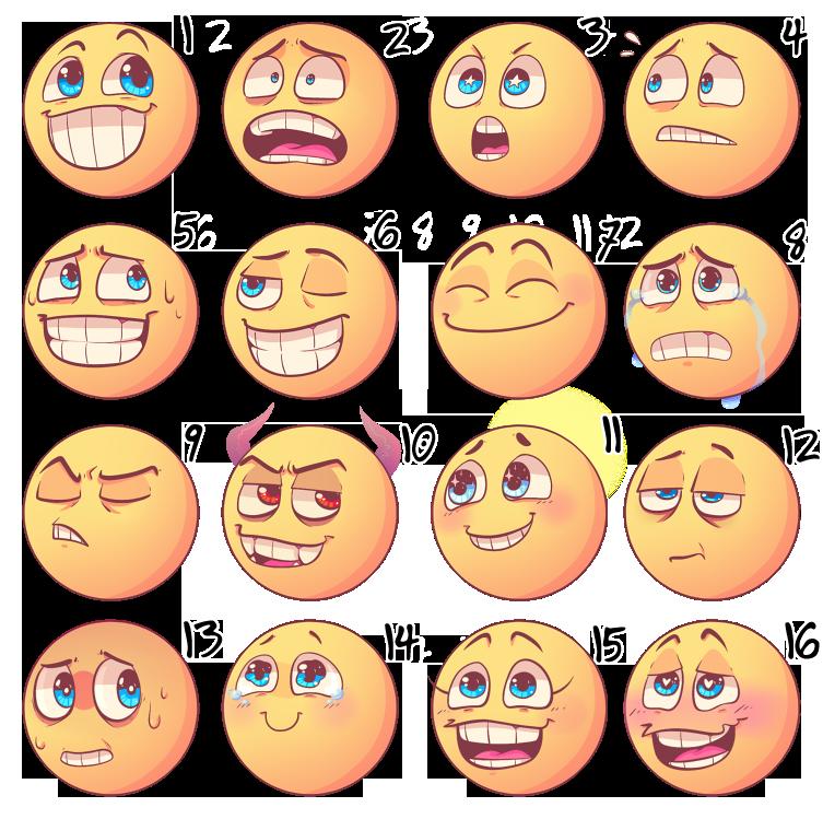 эмоции в картинках для психолога смайлики фантастическая