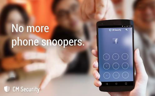 CM Security AppLock AntiVirus App, Phone, Application