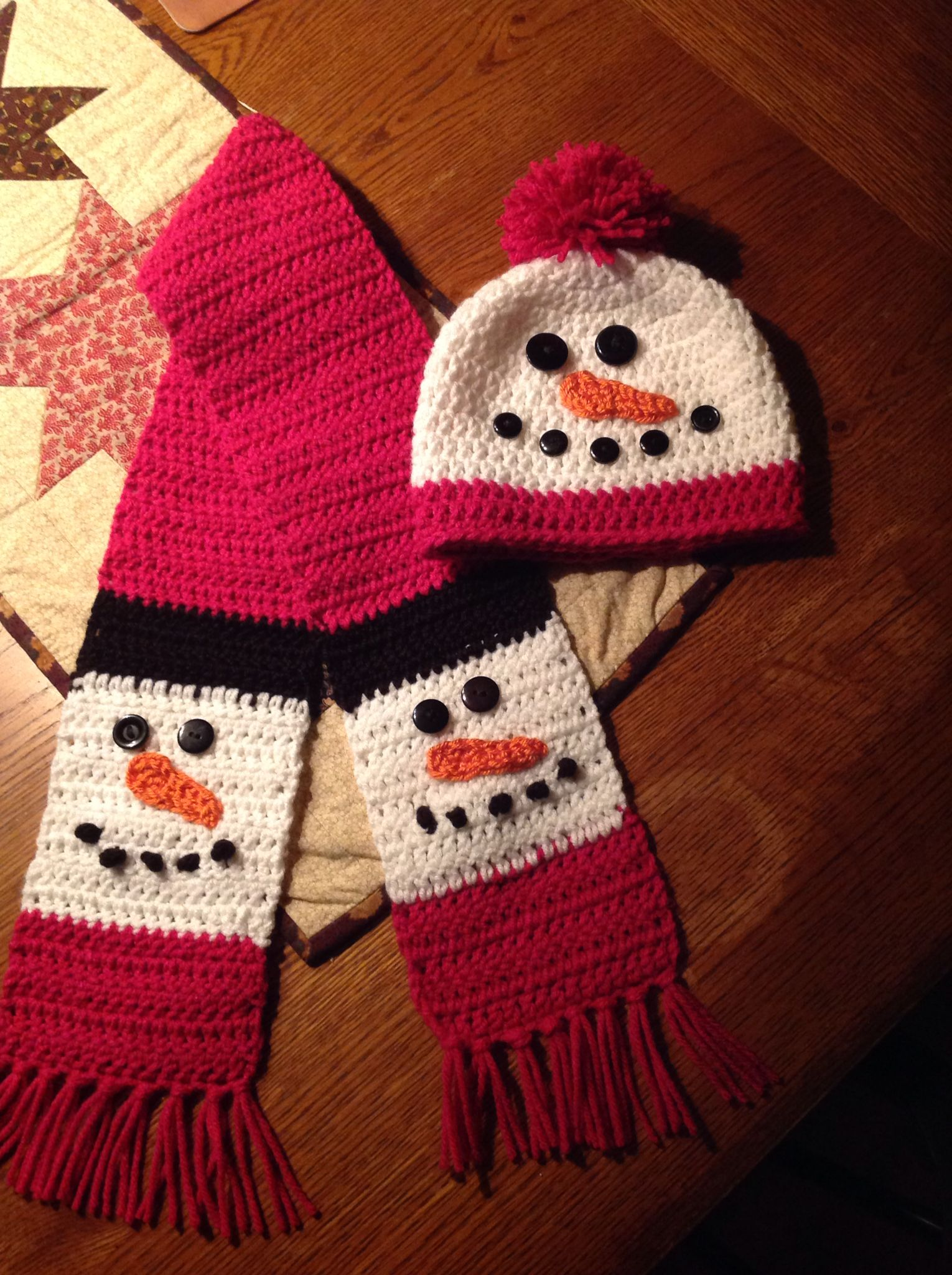 Matching Snowman Hat And Scarf Christmas Scarf Crochet Christmas Crochet Patterns Snowman Scarf Pattern
