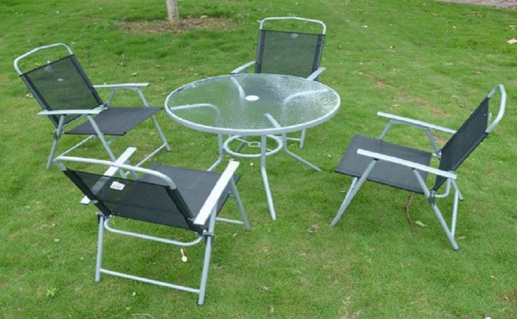 glass top patio table and chairs ideas for the house pinterest rh pinterest com Round Glass Top Patio Table Round Patio Table and Chairs