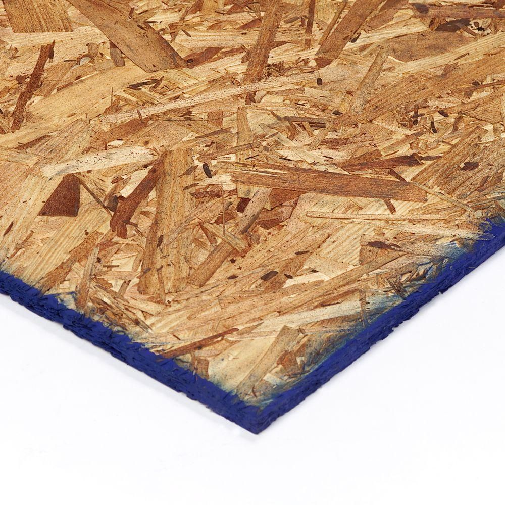 1 2 4 Ft X 8 Ft Oriented Strand Board 660663 The Home Depot Oriented Strand Board Osb Sheathing Osb