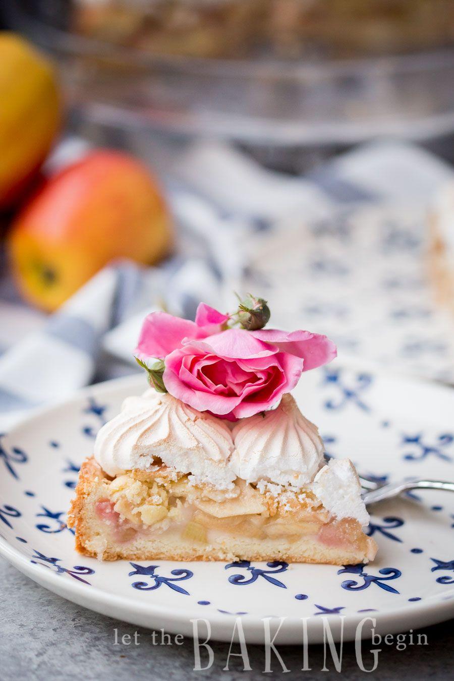Apple Rhubarb Meringue Pirog (Russian Pie) - Let the Baking Begin! #napoleonkuchenrussisch