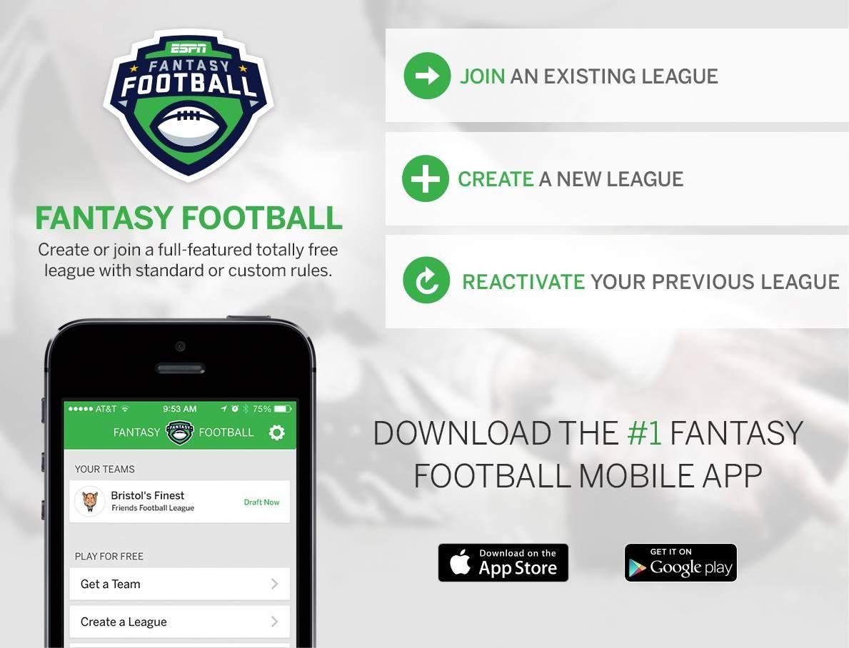 Have you download this app already ? ESPN Fantasy