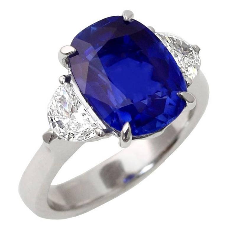 Angara Sapphire Ring - GIA Certified Pear Sri Lankan Sapphire Split Shank Ring TsIwc