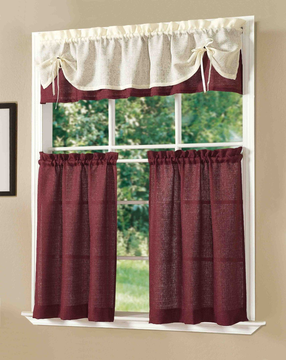 Sunrise Kitchen Curtain Set by DaintyHome on Etsy  Dainty