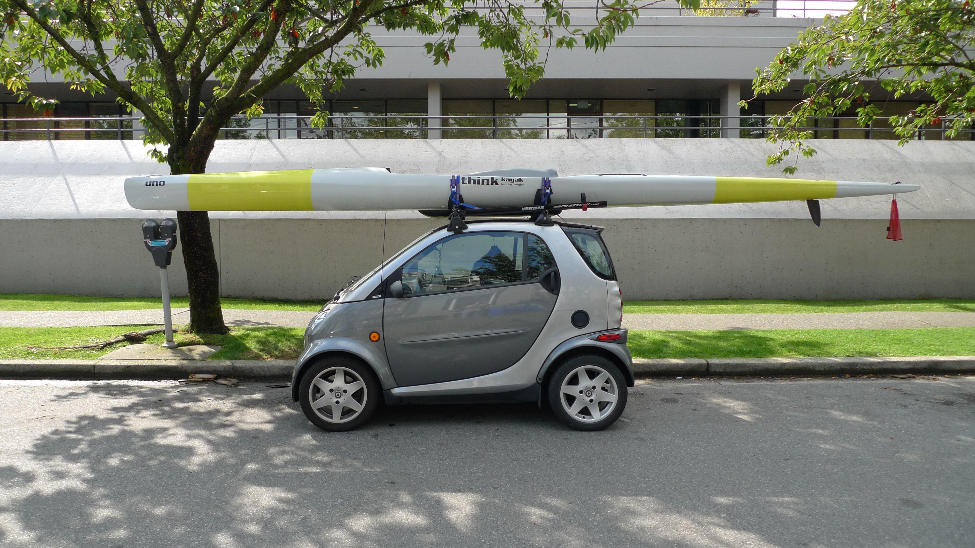 Smart Cars And Kayaks Maybe We Need A Kayak Rack Along With The Bike Rack On The Smart Kayaking Smart Car Kayak Rack