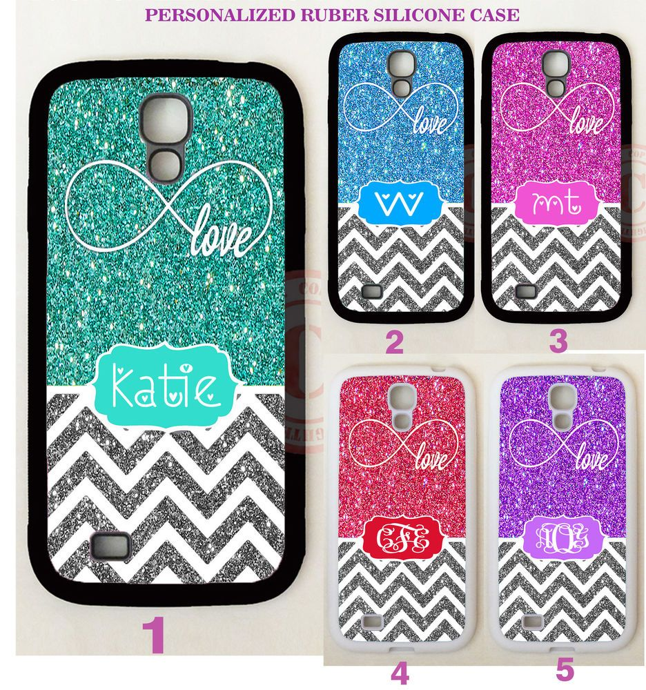 NEW INFINITY LOVE SILVER CHEVRON MONOGRAM Case For Samsung Galaxy S8 S7 NOTE 5 4 #UnbrandedGeneric