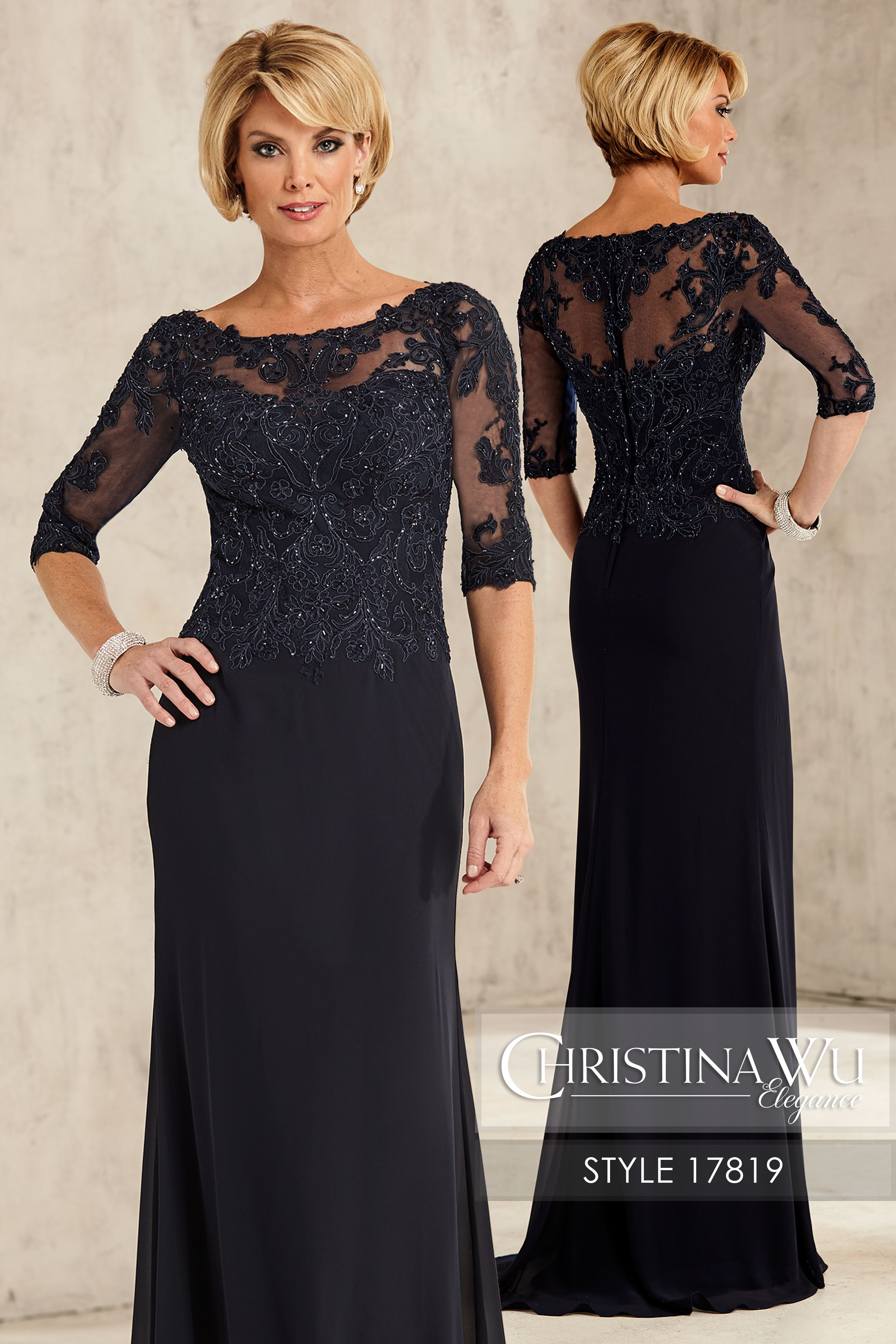 f5a3371d645 ChristinaWuElegance Style 17819 Illusion bateau neckline