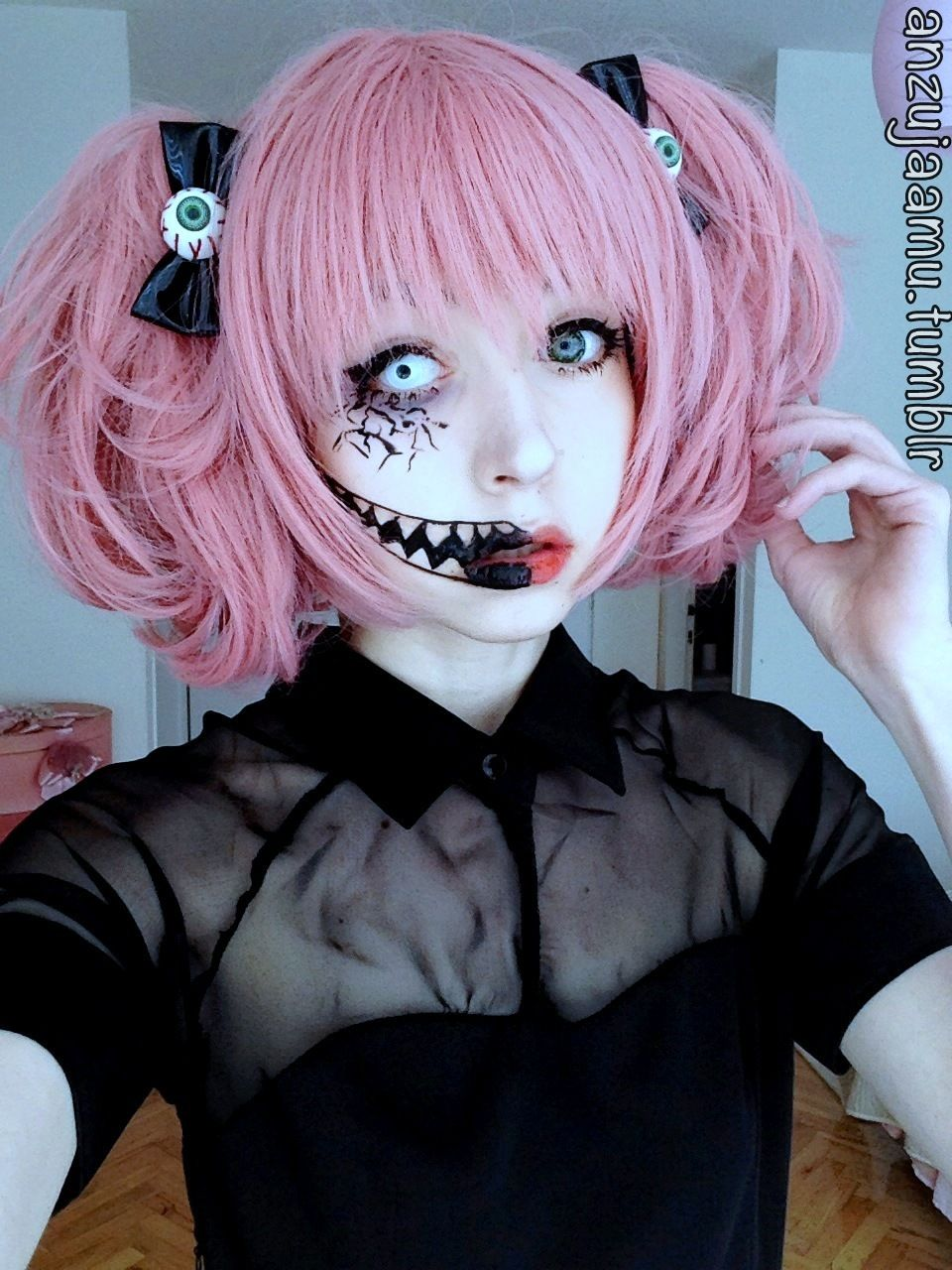 anzujaamu creepy cute makeup for halloween