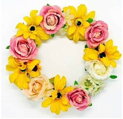 Photo of Jolitac 13 inch flower wreath artificial rose peony sunflower wreath #fashion #h …