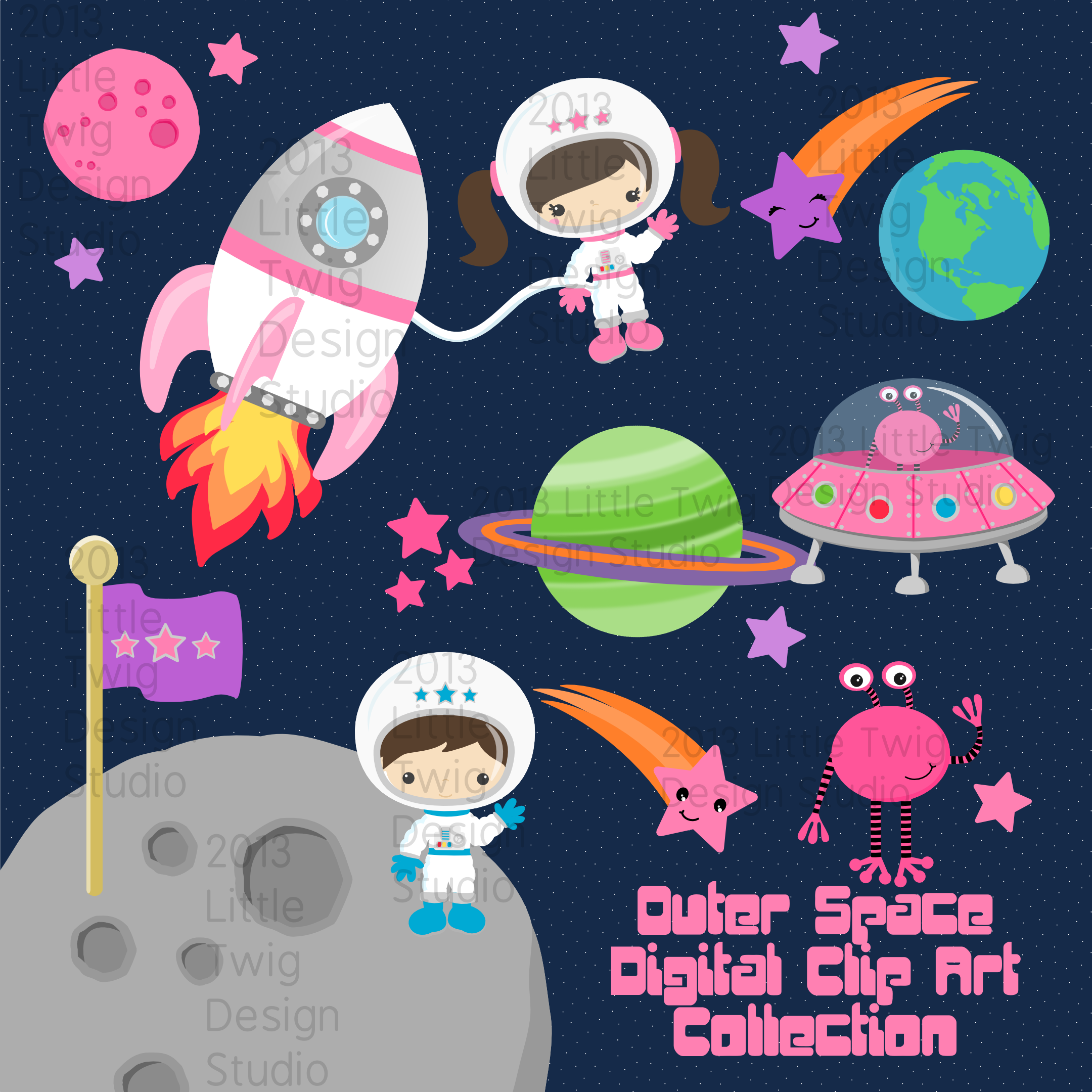 30++ Outer space design clipart ideas
