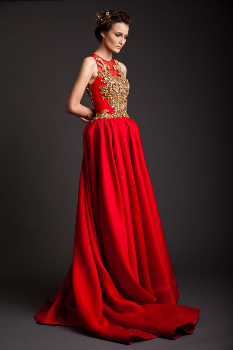 Long red dress for wedding  SS  Krikor Jabotian  fashion dresses  Pinterest  Dress shoes