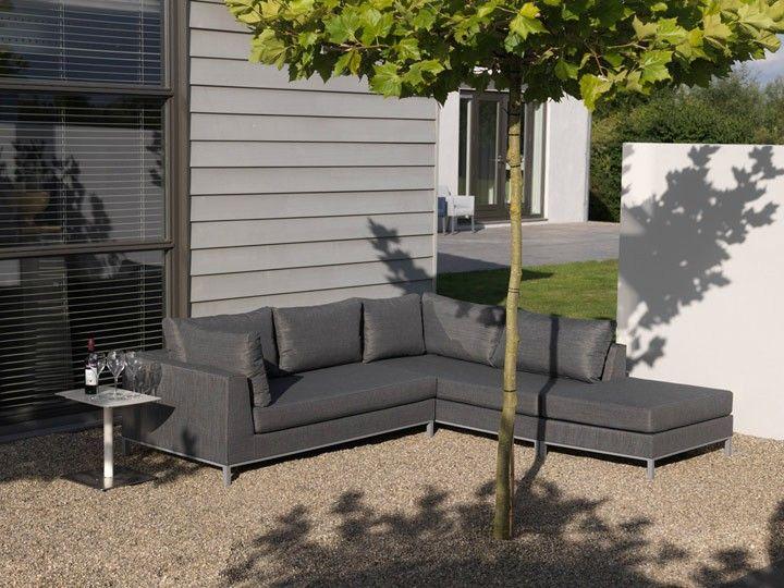 Terrassenmöbel lounge wetterfest  Lounge Casablanca für den Garten 12-teilig links Textilene Grau ...