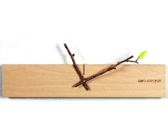 Unique Minimalist Wood Wall Clock | Modern Home Decor Gift Ideas
