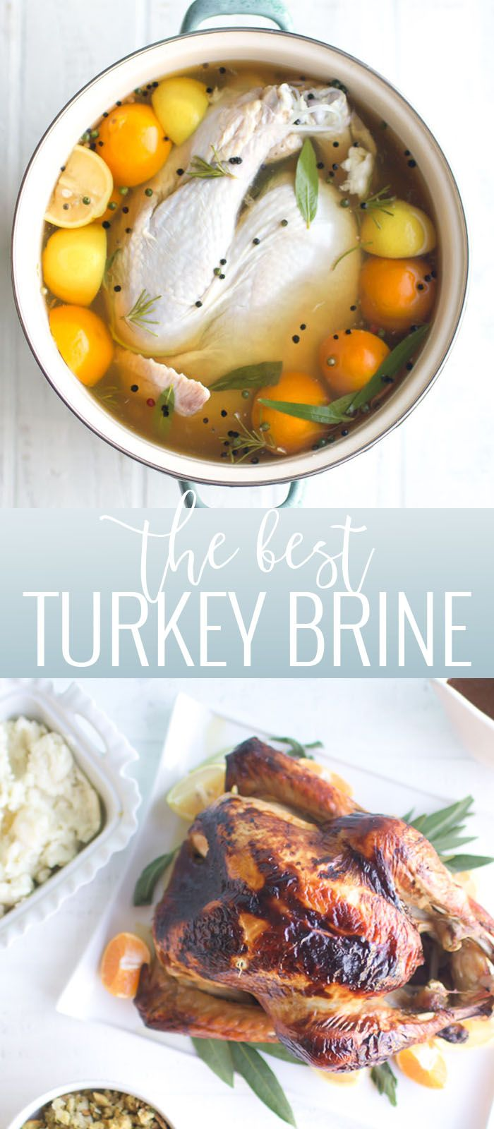 Brined Turkey with Garlic Herb Butter | Oh So Delicioso