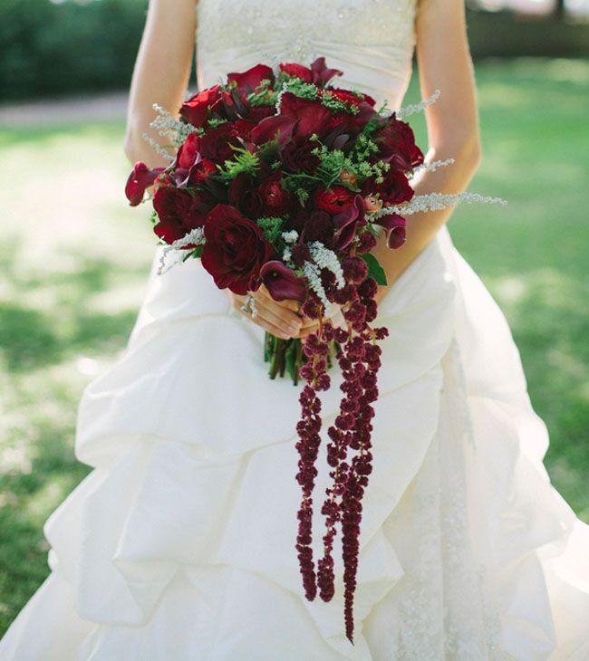 Victorian Steampunk Inspired Wedding Niki Leo Red Bouquet