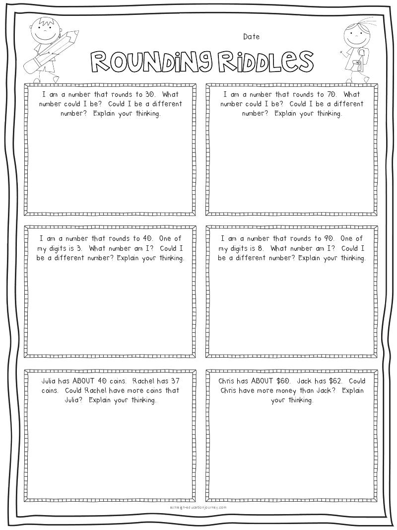 rounding riddles.pdf - Google Drive   Third grade math [ 1067 x 800 Pixel ]