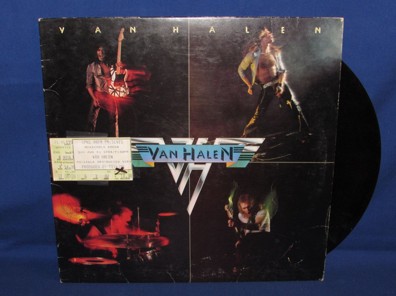 Van Halen Album 1978 Debut Album With Concert Ticket Stub By Ourleftovers On Etsy Https Www Etsy Com Listing 49072791 Van Halen Debut Album Concert Tickets