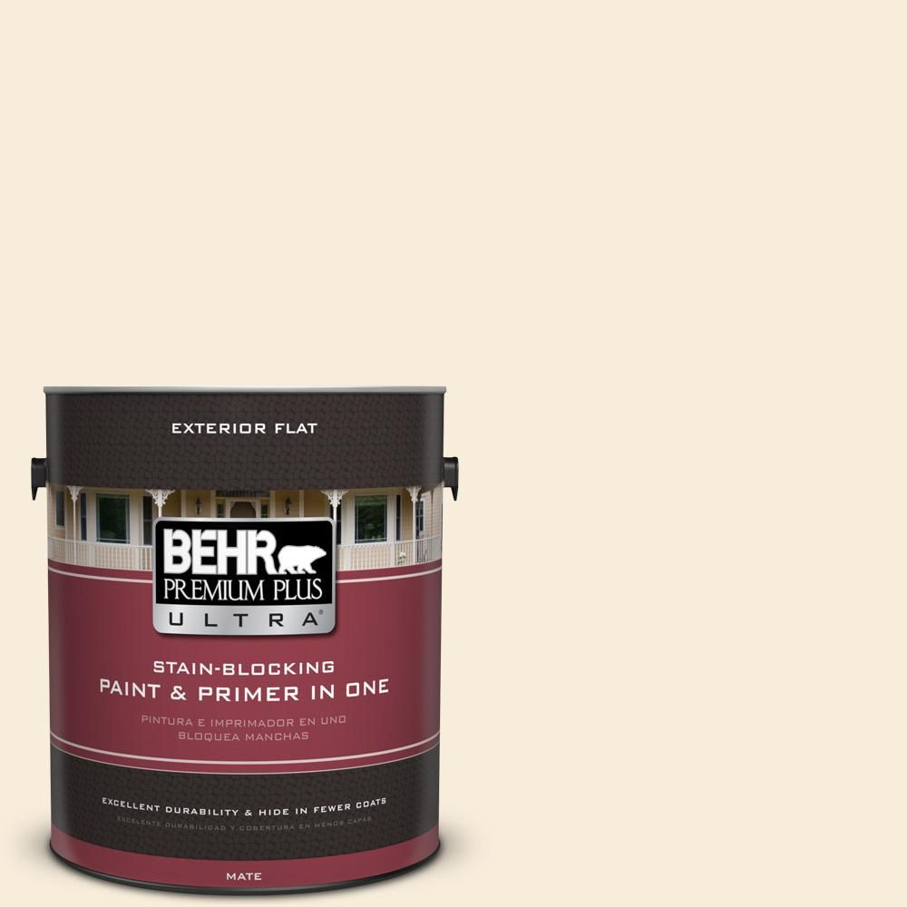 Behr Ultra 8 Oz Ul160 10 Polished Pearl Matte Interior Exterior Paint And Primer In One Sample Ul160 10 Exterior Paint Behr Premium Plus Ultra