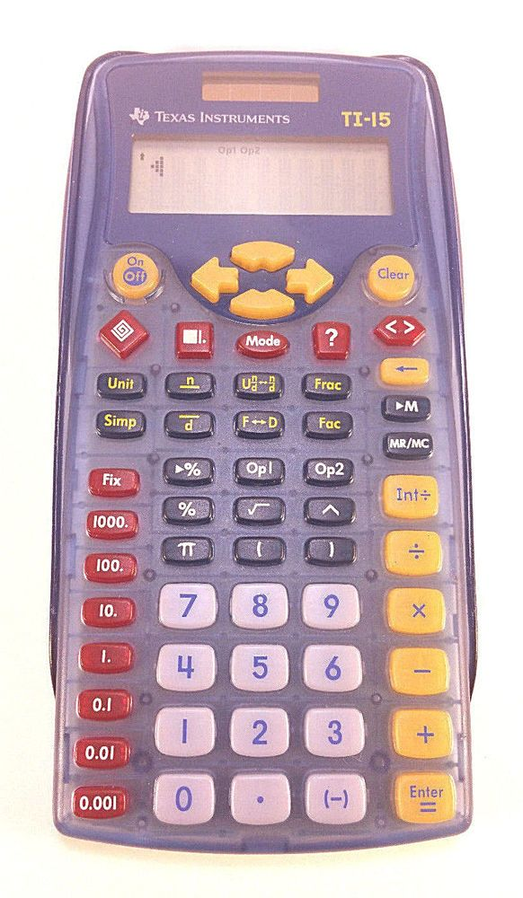 TEXAS INSTRUMENTS TI-15 Explorer Scientific School Calculator W