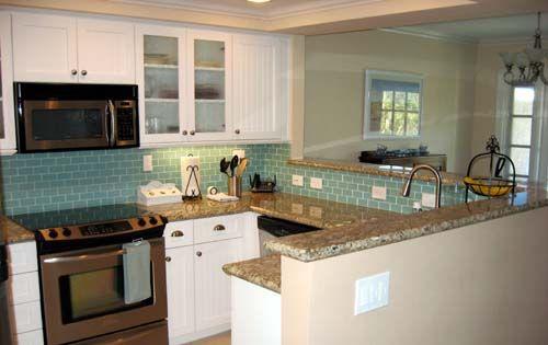 More Blue Tiles Turquoise tile Blue tiles and Kitchen backsplash