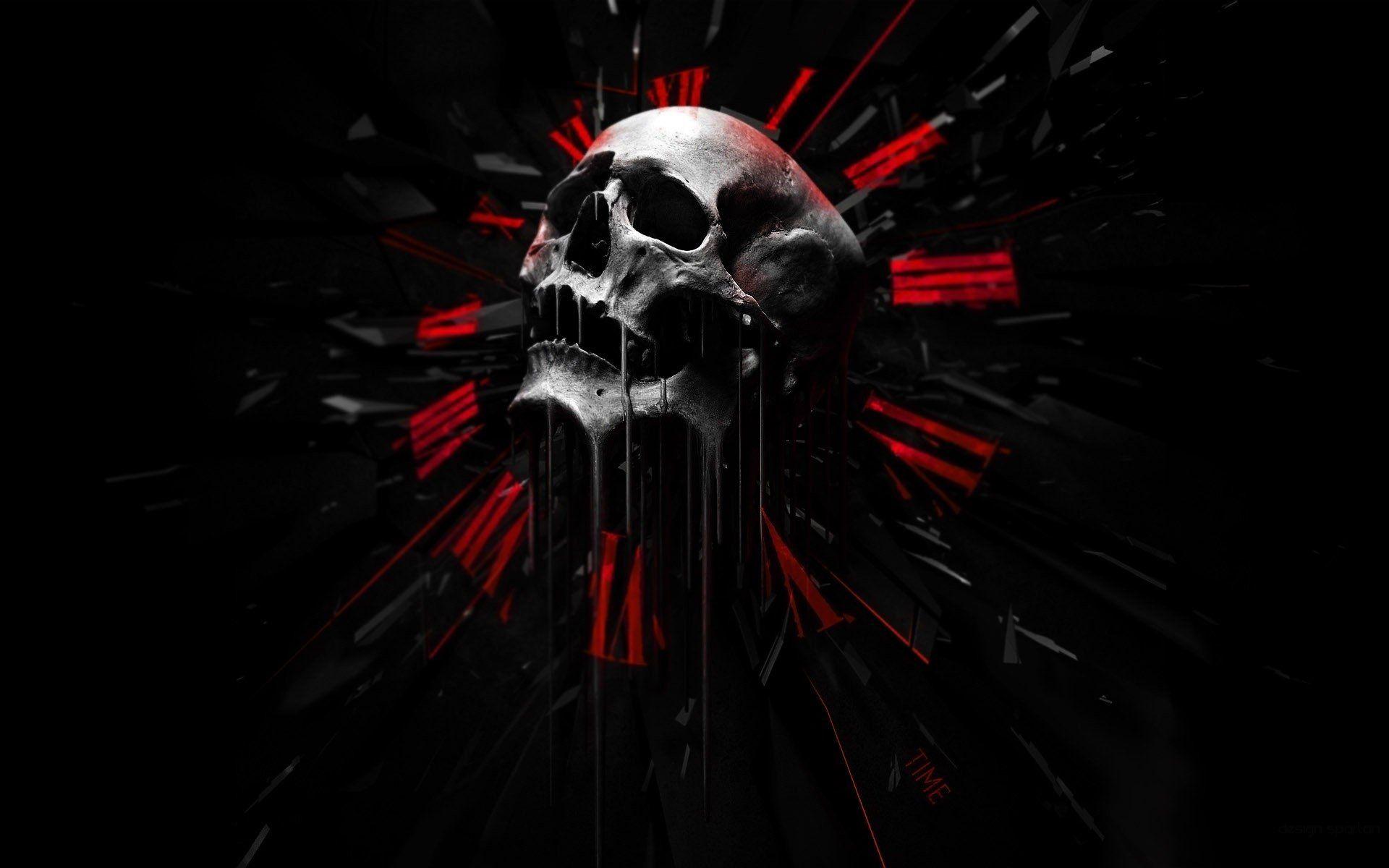 Skulls Dark Abstract Black Red Wallpaper 1920x1200 698376 Skull Wallpaper Black Skulls Wallpaper Red And Black Wallpaper
