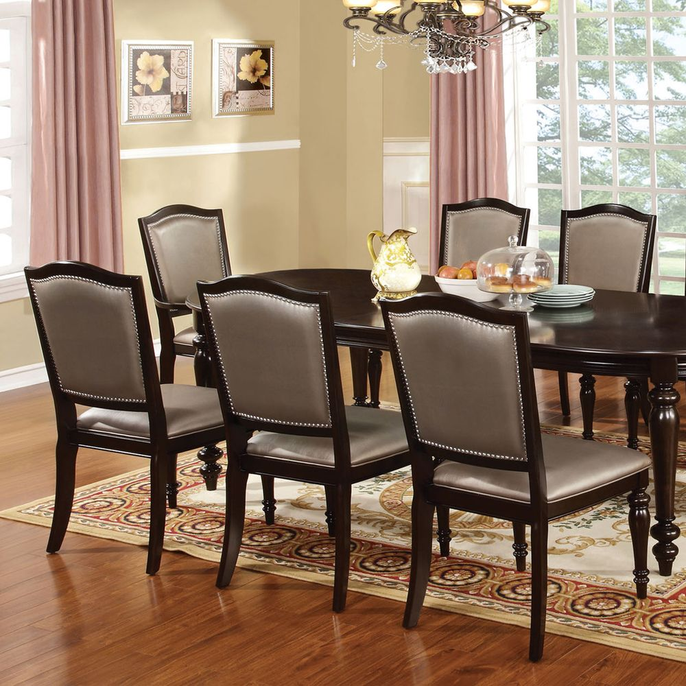 Furniture Of America Harllington Dark Walnut 9Piece Dining Set Fascinating 9 Pc Dining Room Sets Design Decoration