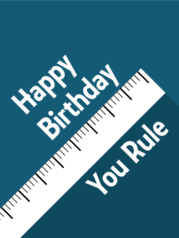 You rule funny birthday card birthdays offer the best birthday greetings m4hsunfo