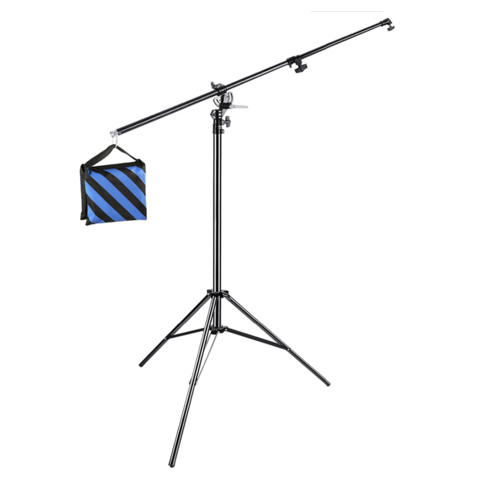 Photo Studio 13 Ft 2 In 1 Light Stand With Boom And Sandbag In 2020 Photo Studio Strobe Lights Photo