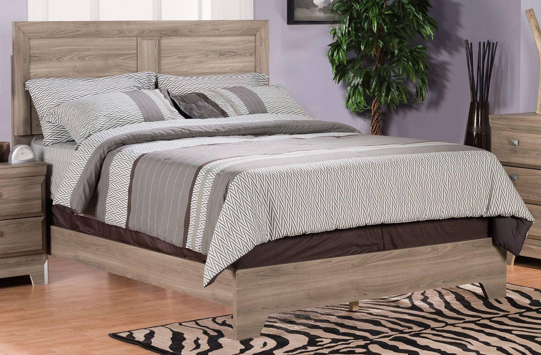 Bedroom Furniture Yorkdale Light Queen Panel Bed Queen